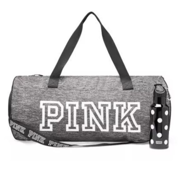 Marl Grey Victorias Secret Pink Duffle Bag
